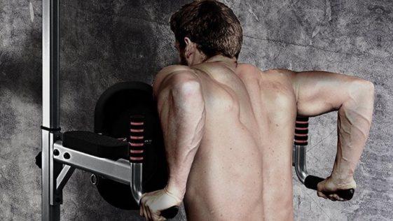 dips aux barres parallèles pour se muscler les pectoraux et les triceps